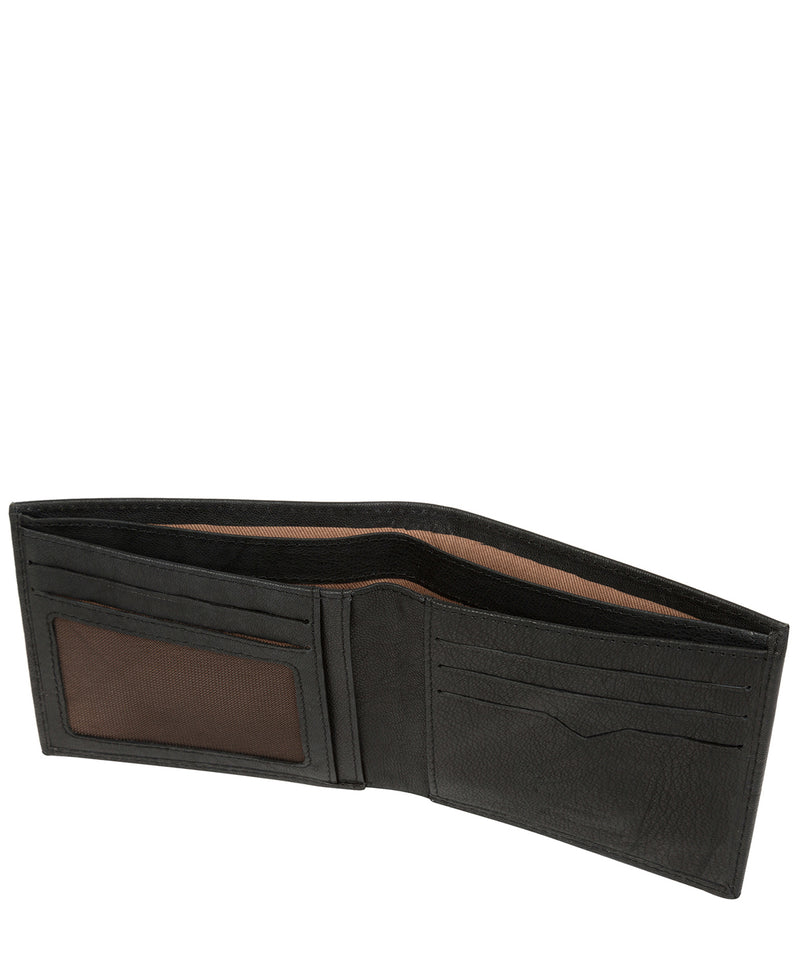 'Fabian' Vintage Black Leather Bi-Fold Wallet image 4