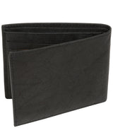 'Fabian' Vintage Black Leather Bi-Fold Wallet image 5