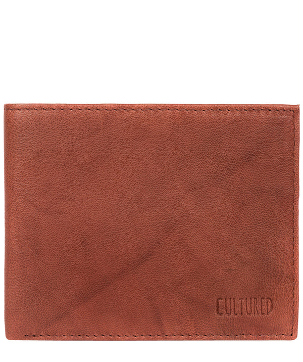 'Fabian' Vintage Brick Leather Bi-Fold Wallet image 1