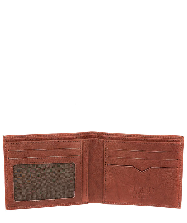 'Fabian' Vintage Brick Leather Bi-Fold Wallet image 3