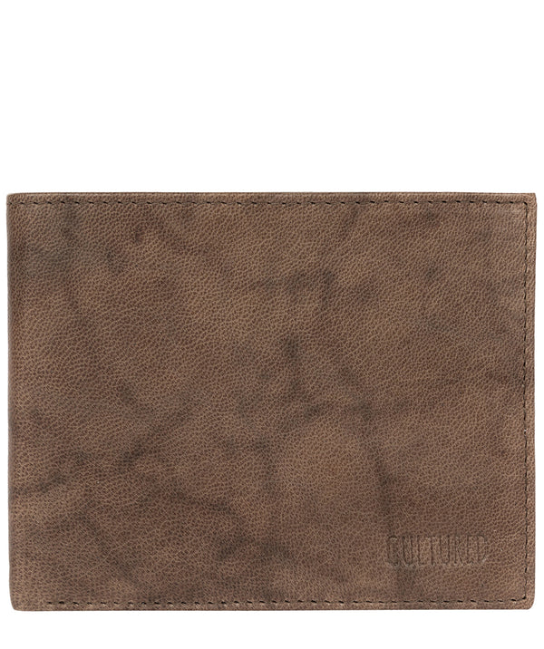 'Fabian' Vintage Brown Leather Bi-Fold Wallet image 1