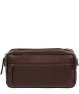 'Como' Italian Inspired Espresso Leather Washbag image 1