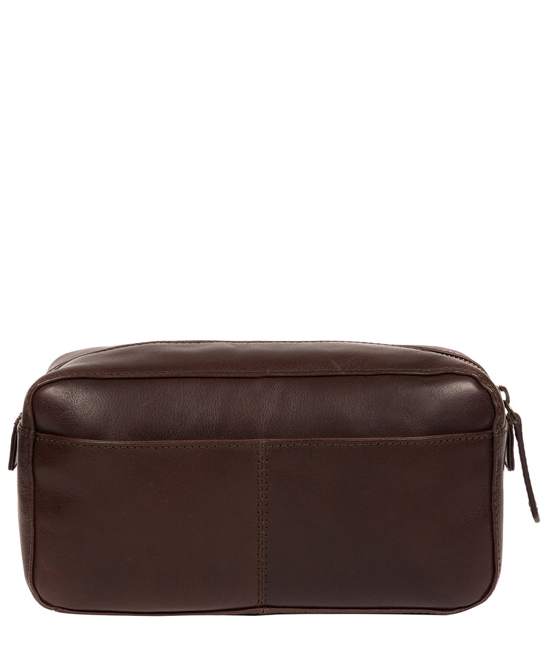 'Como' Italian Inspired Espresso Leather Washbag image 3