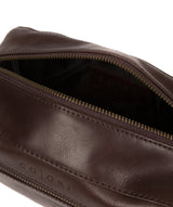 'Como' Italian Inspired Espresso Leather Washbag image 4