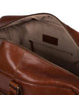 'Giambino' Italian-Inspired Umber Brown Leather Holdall image 4
