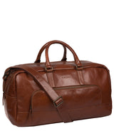'Giambino' Italian-Inspired Umber Brown Leather Holdall image 5