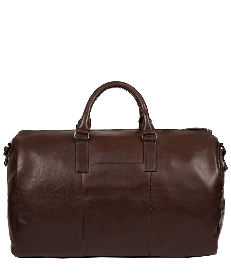 'Lucca' Italian-Inspired Espresso Leather Holdall image 3