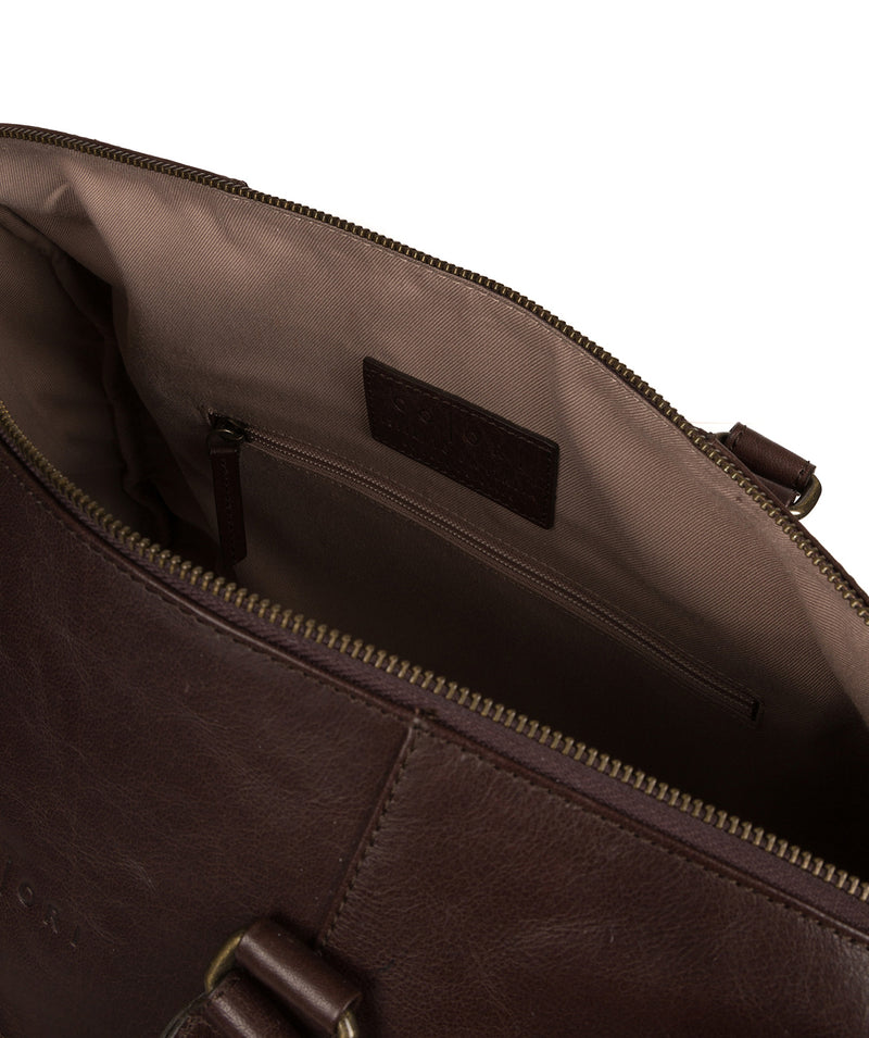 'Lucca' Italian-Inspired Espresso Leather Holdall image 4