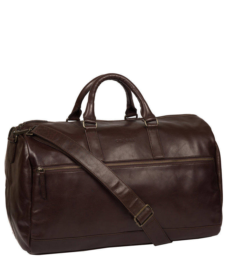 'Lucca' Italian-Inspired Espresso Leather Holdall image 5