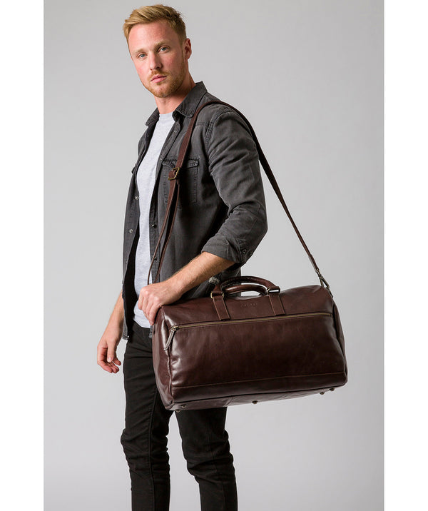 'Lucca' Italian-Inspired Espresso Leather Holdall image 2
