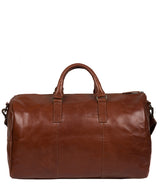 'Lucca' Italian-Inspired Umber Brown Leather Holdall image 3