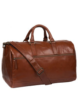 'Lucca' Italian-Inspired Umber Brown Leather Holdall image 5