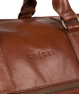 'Lucca' Italian-Inspired Umber Brown Leather Holdall image 6