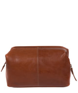 'Morano' Italian-Inspired Umber Brown Leather Washbag image 3