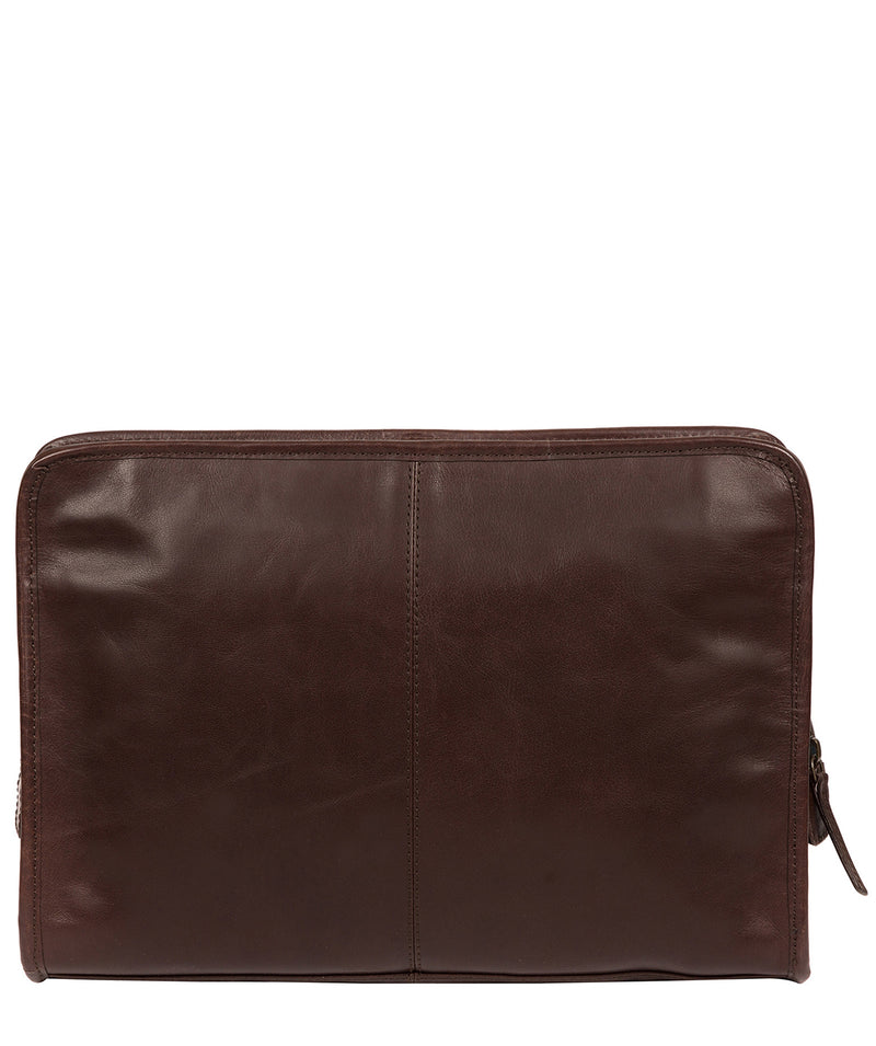 'Pirlo' Italian-Inspired Espresso Leather Document Case image 3