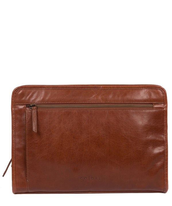 'Pirlo' Italian-Inspired Umber Brown Leather Document Case image 1