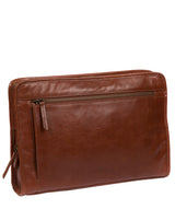 'Pirlo' Italian-Inspired Umber Brown Leather Document Case image 5