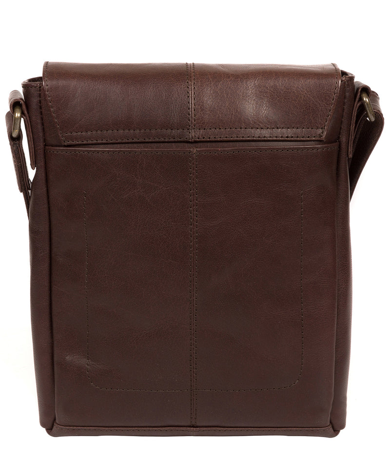 'Zoff' Italian-Inspired Espresso Leather Messenger Bag image 3