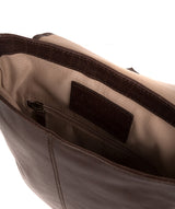 'Zoff' Italian-Inspired Espresso Leather Messenger Bag image 4