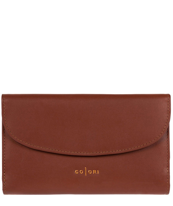 'Sardinia' Italian-Inspired Cognac Leather RFID Purse