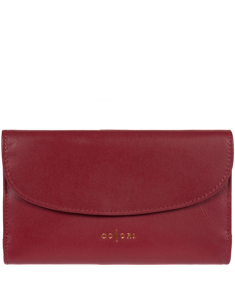 'Sardinia' Italian-Inspired Red Genuine Leather RFID Purse  image 1