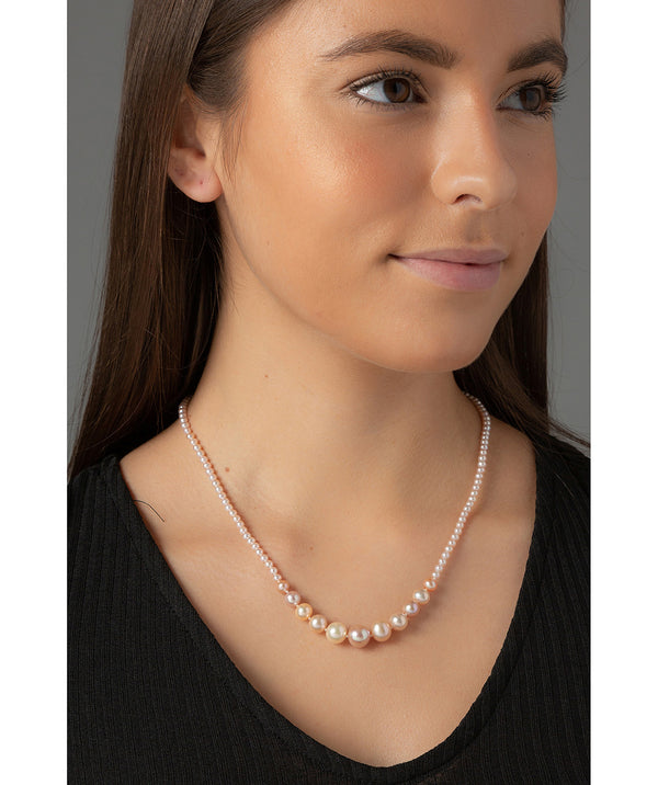 'Mahuika' Pink River Pearl & 9ct White Gold Necklace image 2