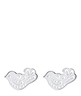 'Gyasi' Sterling Silver Dove Earrings image 1