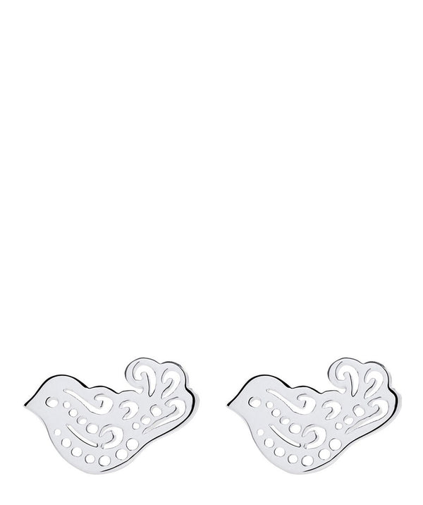 'Gyasi' Sterling Silver Dove Earrings Pure Luxuries London
