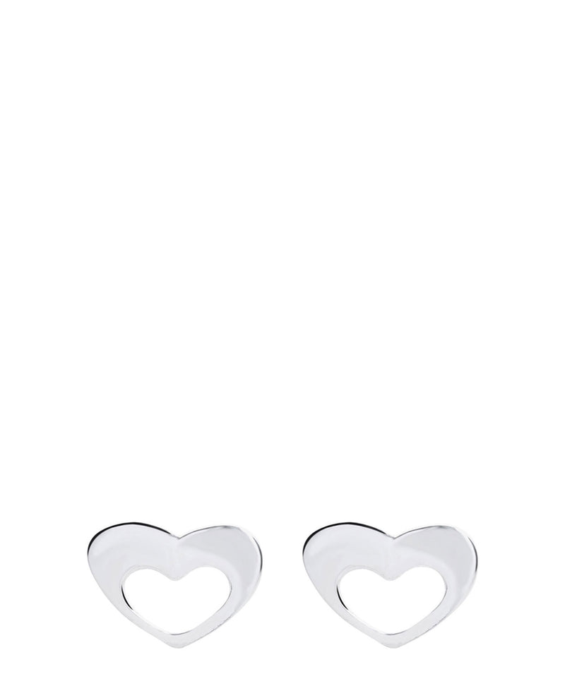 'Allyson' Sterling Silver Heart Stud Earrings