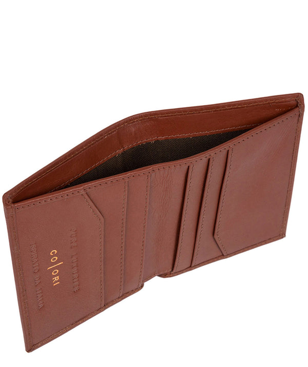 'Potenza' Italian-Inspired Cognac Leather Card RFID Wallet
