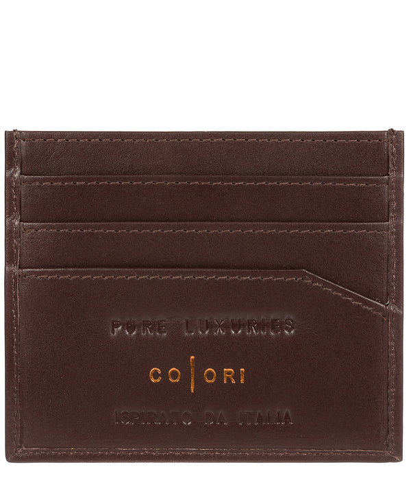 'Trento' Italian-Inspired Brown Leather RFID Card Holder