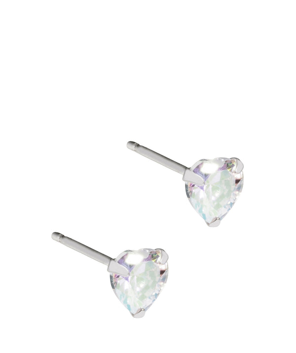 'Tivona' Sterling Silver Cubic Zirconia Heart Stud Earring  image 1
