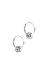 'Dyani' Sterling Silver & Crystal Hoop Earrings image 1