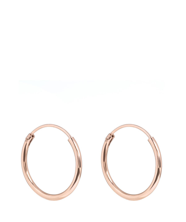 Gift Packaged 'Dakoda' Sterling Silver Rose Gold Plated Hoop Earrings