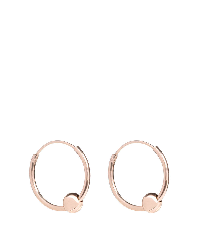 'Luyu' Sterling Silver Rose Gold Plated Hoop Earrings