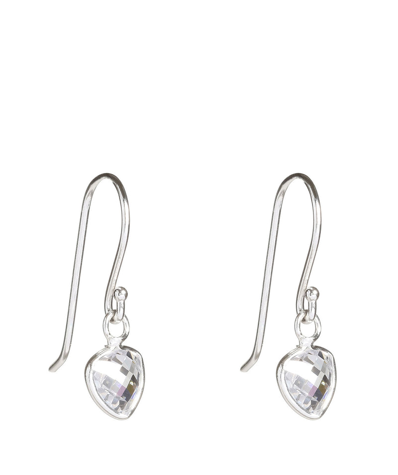 'Kiya' Silver Triangle Earrings with Opal image 1