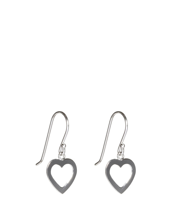 'Itet' Plain Silver Heart Earrings image 1