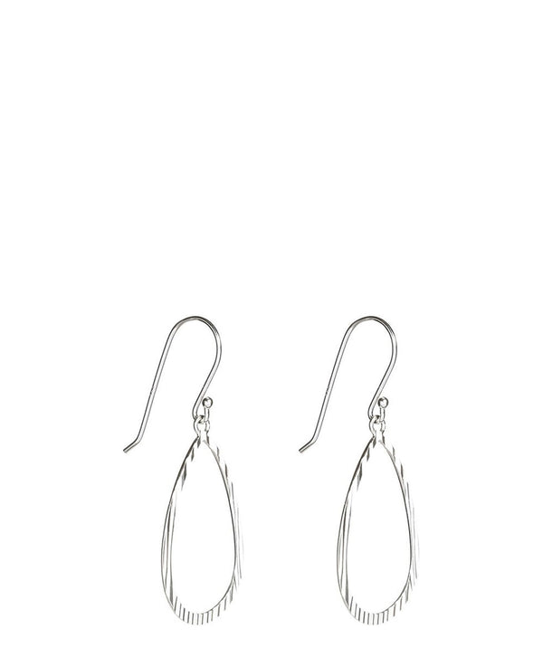 Gift Packaged 'Natsu' Sterling Silver Pear Earrings