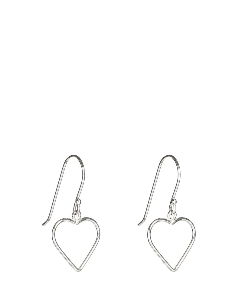 'Ume' Silver Heart Earrings image 1