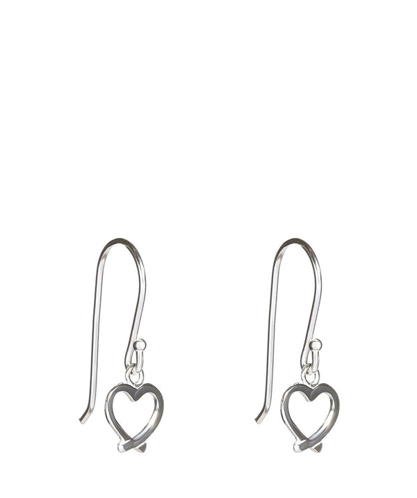 'Yancey' Sterling Silver Heart Drop Earrings image 1