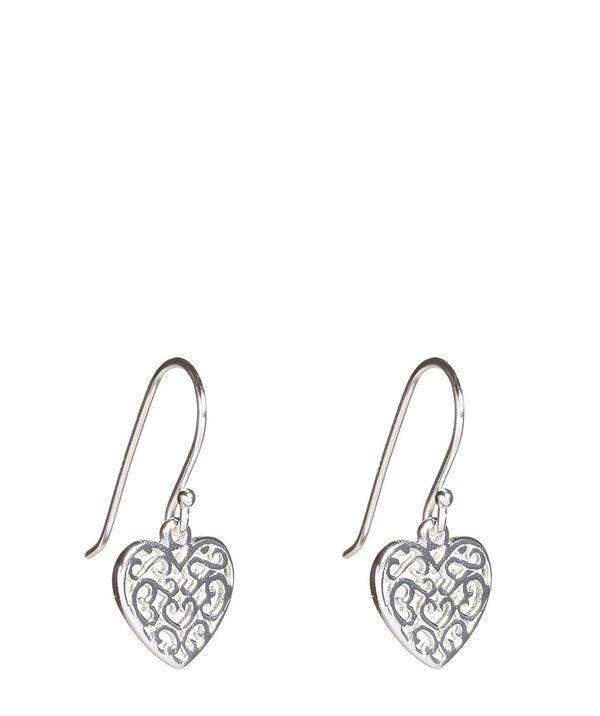 'Yuri' Silver Heart Earrings image 1