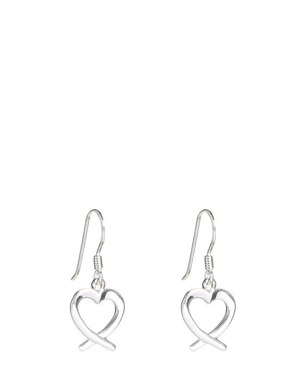 Gift Packaged 'Achara' Sterling Silver Heart Earrings