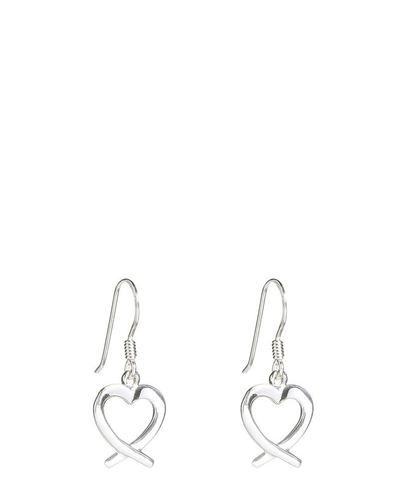 'Achara' Sterling Silver Heart Earrings
