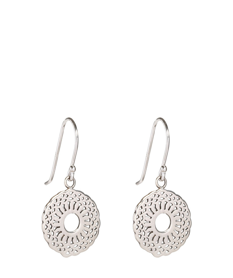 'Hiroe' Silver Patterned Earrings image 1