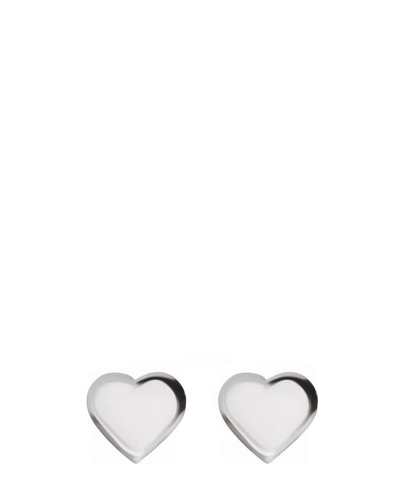 'Phawta' Sterling Silver Heart Stud Earrings