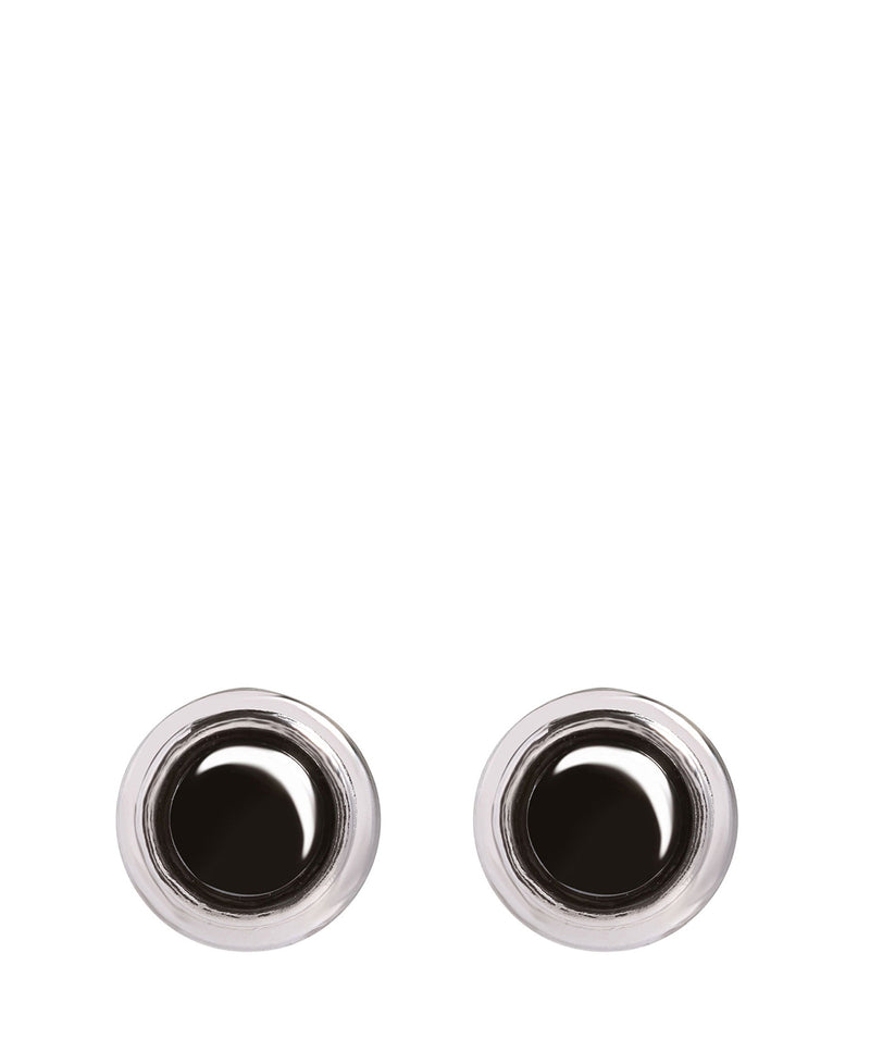'Behitha' Sterling Silver & Hematite Earrings image 1