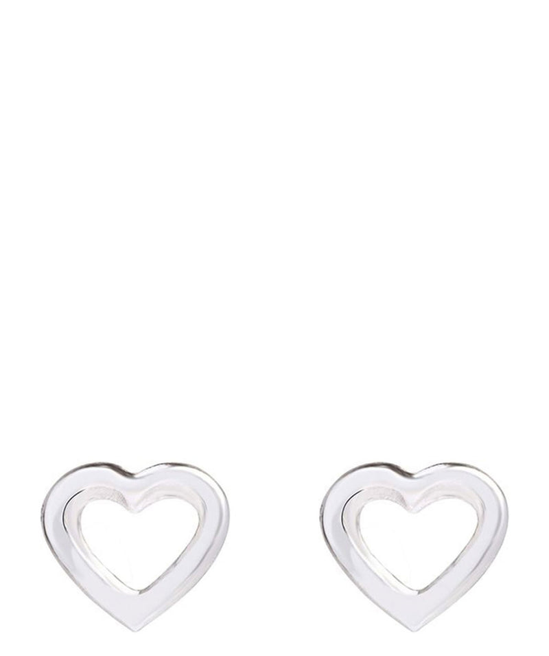 Gift Packaged 'Benjiro' Sterling Silver Heart Outline Earrings