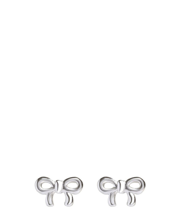 Gift Packaged 'Jane' Sterling Silver Bow Earrings