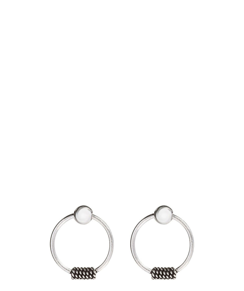 Gift Packaged 'Phailin' Sterling Silver Hanging Hoop Earrings