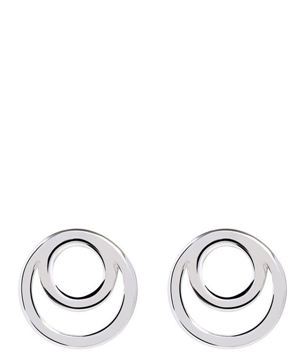 'Nariko' Sterling Silver Spiral Earrings
